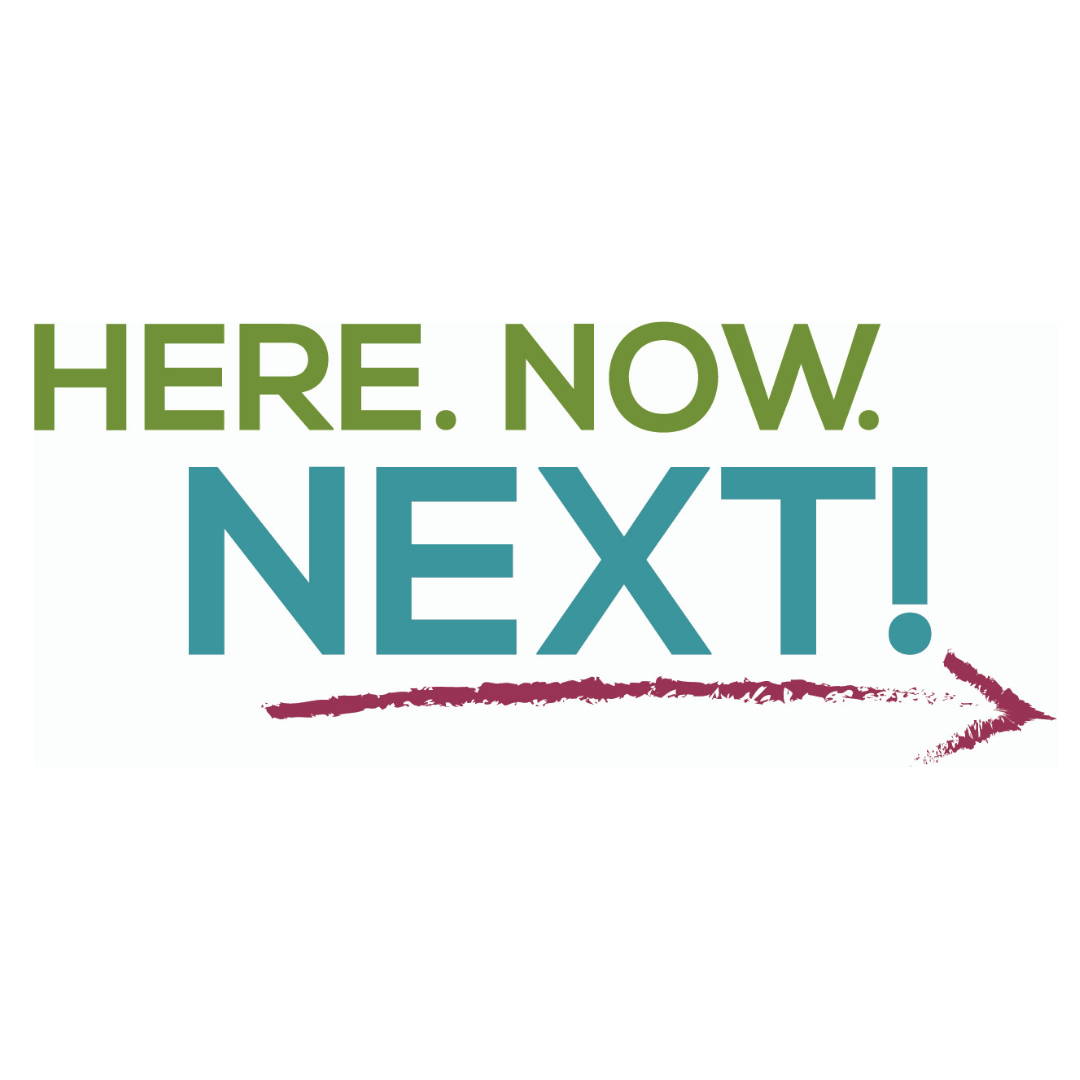 Here. Now. Next! Fall Virtual Season Logo